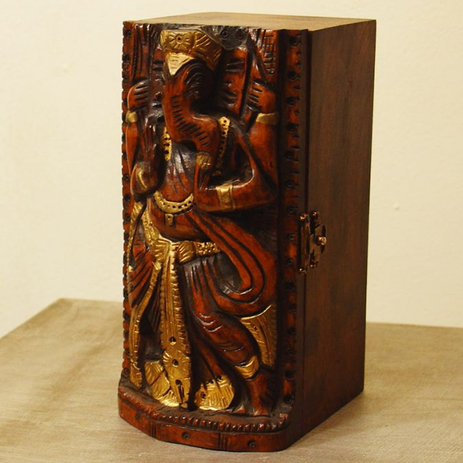 Кутия - Дърворезба на Ганеша