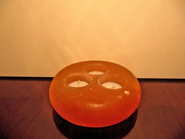 Свещник - Солен Кристал за 3 свещички