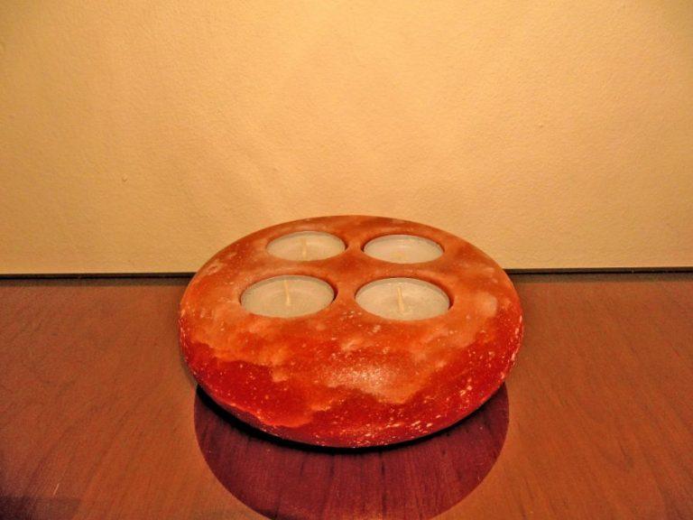 Свещник - Солен Кристал за 4 свещички